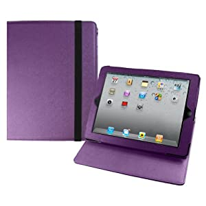 MiniSuit PU Leather Rotating Case Stand for The New iPad