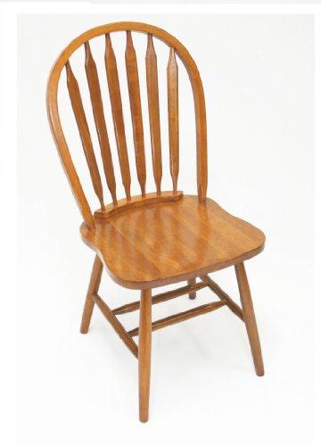 Solid Wood Windsor Arrow Back Chair - Single (Heritage Oak) (38
