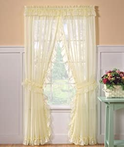Amazon Com Emelia Sheer Priscilla Curtain 96 X 84
