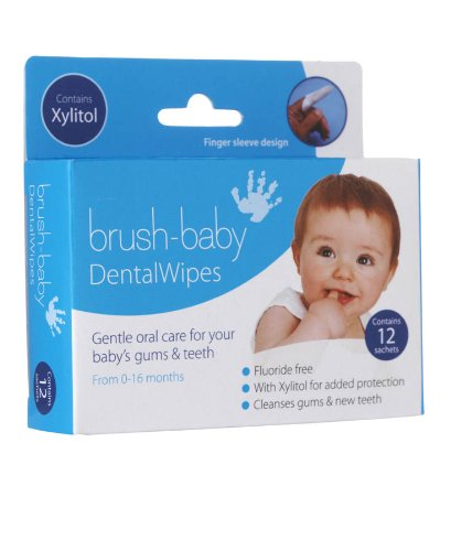 Brush-Baby DentalWipes (Finger Sleeve Type) Pack of 2