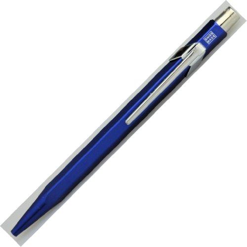CARAN b' ACHE 【カランダッシュ】 ボールペン(ノック式) 限定849 メタルXシリーズ メタリックブルー 0849-140