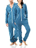 ZIPUPS Mono-Pijama Clean Cut (Azul Medio)