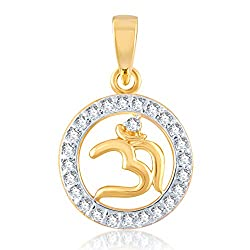 VK Jewels OM Pendant gold and Rhodium plated - PS1002G [VKP1002G]