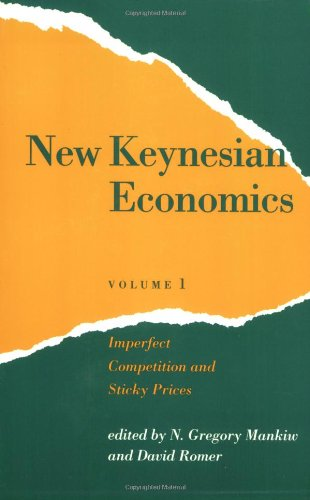 New Keynesian Economics, Vol. 1: Imperfect Competition And Sticky Prices (Readings In Economics) front-1020537