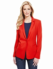 M&S Collection 1 Button Ponte Blazer