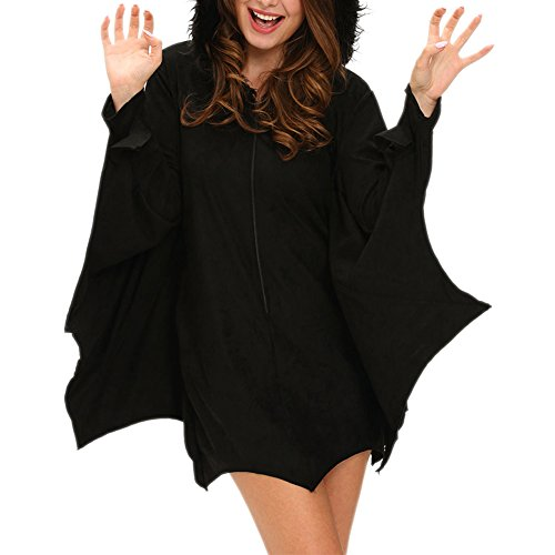 MAX Sonne All in Black Bat Adult Costume-(Black,One Size) (Preppy Halloween Costumes)