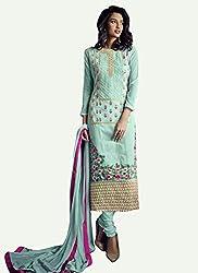 Khushi Trendz Georgette Blue Semi Stitched Salwar Suit