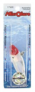 Mirrolure Mirrodine, Red Head White Back and Belly, 2-5 8-Inch by MirrOLure