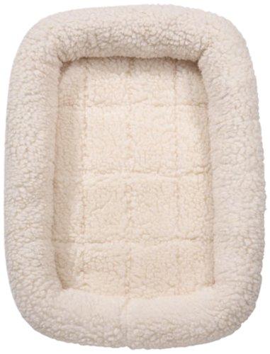 Slumber Pet Sherpa Crate Dog Bed, Medium/Large, Natural Beige front-402339