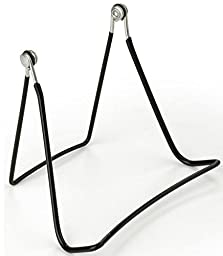 Fixture Displays Wire Easel for Table Top with Wide Base, 5-5/8 x 4-1/2 - Black 19453 19453