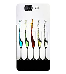 Fuson 3D Printed Champagne Glasses Designer Back Case Cover for Micromax Canvas Knight A350 - D836