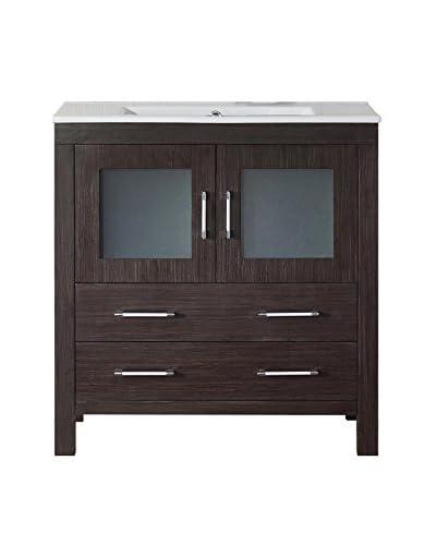 Virtu USA Dior 32 Single Bath Vanity Cabinet, Espresso