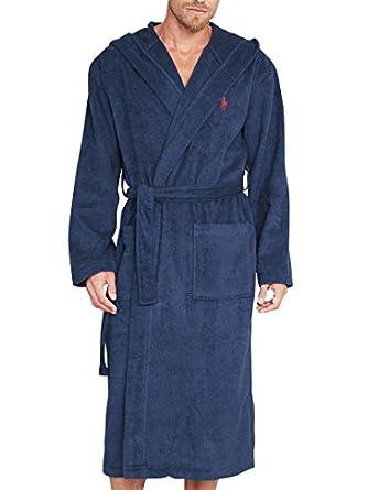 Polo Ralph Lauren - Bleu Kimono Hooded Robe - Homme - Taille: L/XL