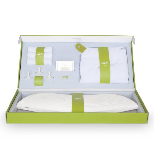 Puj Infant Bath Gift Set, White, Newborn to 6 Months