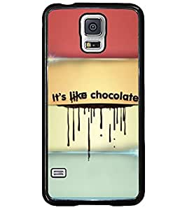 PRINTSWAG CHOCOLATE TEXT Designer Back Cover Case for SAMSUNG GALAXY S5