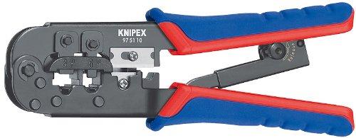 Knipex 97 51 10 Western Plug Type Comfort Grip Crimping Pliers