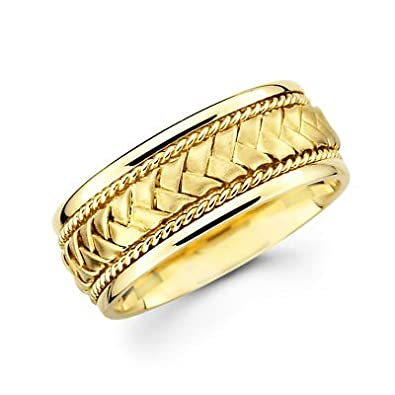 Wedding rings with engraved 14k yellow gold mens wedding ring for Mens wedding rings yellow gold