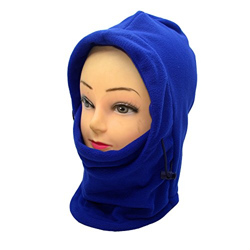 Ezyoutdoor Tactical Balaclava Full Face Outdoor Sports CS Mask Double Layer 6 in 1 Thermal Fleece Hat Hood Bicycle Motorcycle Ski Bike Riding Cover Neck Warmer