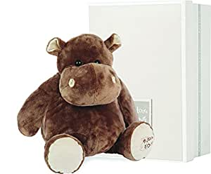 histoire d 39 ours ho1057 medium stuffed brown hippo gift box baby. Black Bedroom Furniture Sets. Home Design Ideas