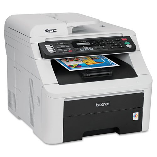 Brother® - MFC-9125CN All-in-One Laser Printer, Copy/Fax/Print/Scan - Sold As 1 Each - Ideal for small offices or workgroups.