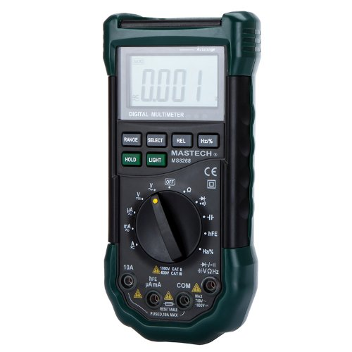 Chicho Handheld Mastech Ms8268 Auto/Manual Range Digital Electrical Multimeter Meter