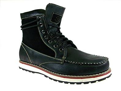 Polar Fox Men's 508013 Wrap Around Ankle Sneaker Boots, Black, 7.5
