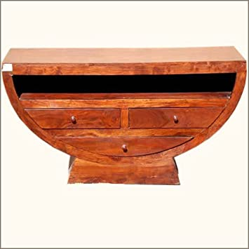 Solid Wood Contemporary Handmade TV Console Entertainment Center