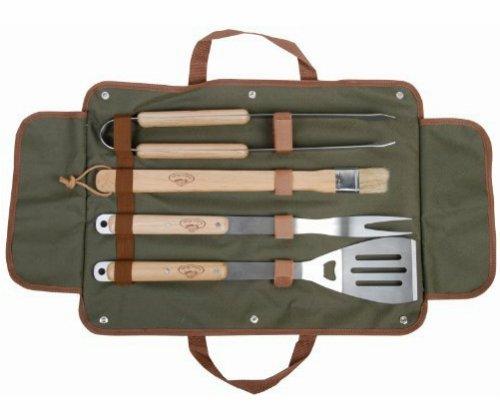 Esschert Design USA GT37 BBQ Tool Set with Canvas Bag