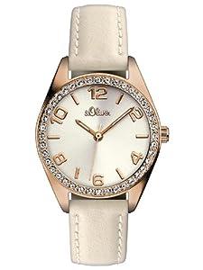 s.Oliver Damen-Armbanduhr XS Analog Quarz Leder SO-2773-LQ