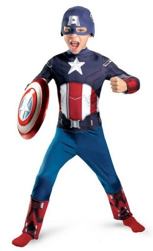 Avengers Movie Captain America Costume for Boys