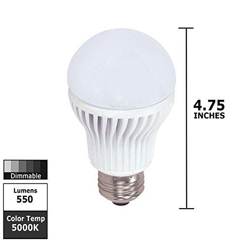 Satco S8798 8W 120V A-Shape A19 5000K Dimmable Kolourone Led Light Bulb