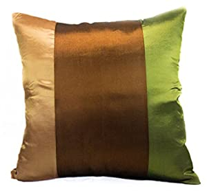 Amazon.com - Narphosit 3 Tone Color Cushion Cover/throw Pillow Case Brown/Gold/Green (18x18)