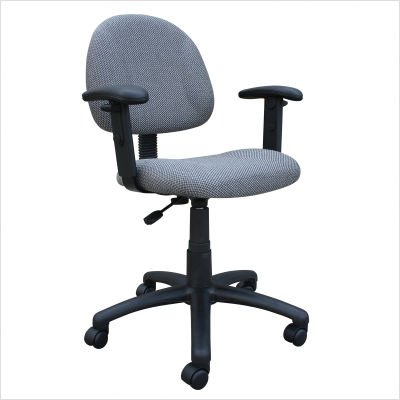 Adjustable Deluxe Fabric Posture Chair with Height Arms