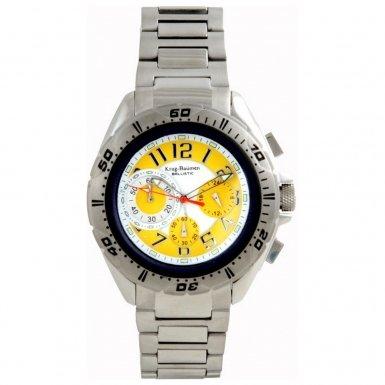 Krug-Baumen Mens Ballistic Yellow Steel Watch