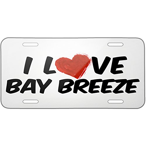 Metal License Plate I Love Bay Breeze Cocktail - Neonblond (Breeze Cocktail compare prices)