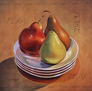 Three Pears - Poster by Valerie Sjodin (12 x 12)