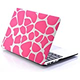[Free Keyboard Cover] JGOO 13-Inch High Quality Rubberized Frosted Hardshell Pink Color Block Design Case Cover for Apple MacBook Air 13