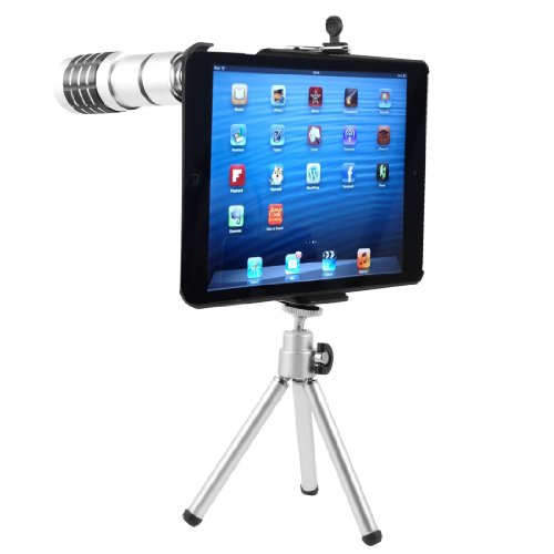 12X Zoom Telephoto Lens Camera Telescope + Tripod + Case For Ipad Mini
