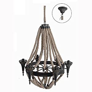 Metal / Rope Chandelier D28.5""