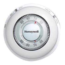 Honeywell CT87N1001 The Round Heat/Cool Manual Thermostat, White, Large