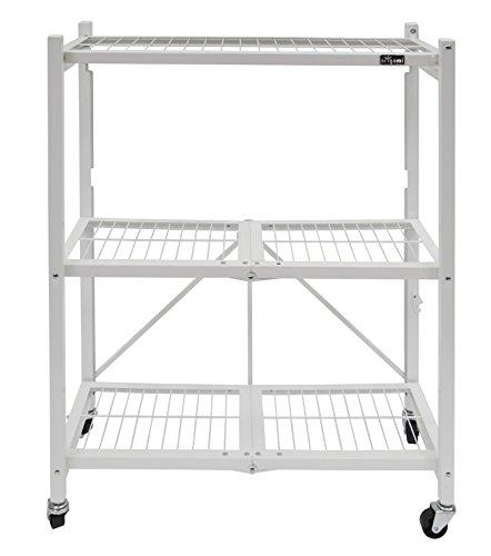 origami rbt 04 foldable kitchen island cart white ebay. Black Bedroom Furniture Sets. Home Design Ideas