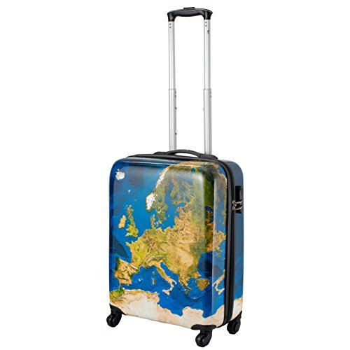 Cabin Max Icon Valise trolley cabine 4 roues Abs rigide 55 x 45 x 20 cm (Satellite)