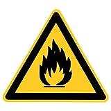 """Warnzeichen Warnschild """" Warnung vor feuergefährlichen Stoffen """" Kunststoff 100"""
