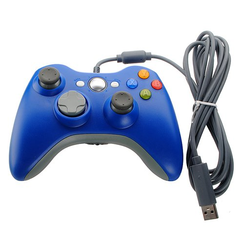 Blue Wired USB Pad Joypad Game Controller For MICROSOFT Xbox 360 PC Windows (Xbox Wired Controller For Pc compare prices)