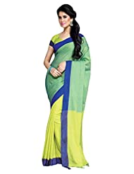 AASRI Women Festival Wear Cotton Blend Printed Zari Border Multicolour Saree - B00O8XWURG