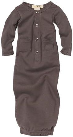 L'ovedbaby Unisex-baby Newborn Gown, Gray, Newborn