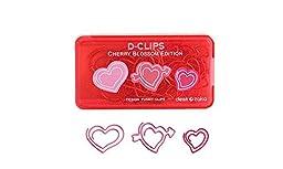 Gaobei Peach Heart Shape Paper Clip Pack of 12
