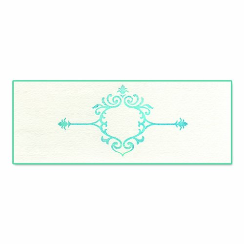 Sizzix Ink-Its Letterpress Plate - Elegant Element By Jen Long