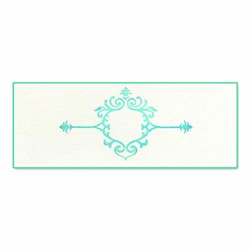 Sizzix Ink-Its Letterpress Plate - Elegant Element By Jen Long