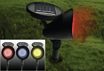 Colour changing solar spot lights